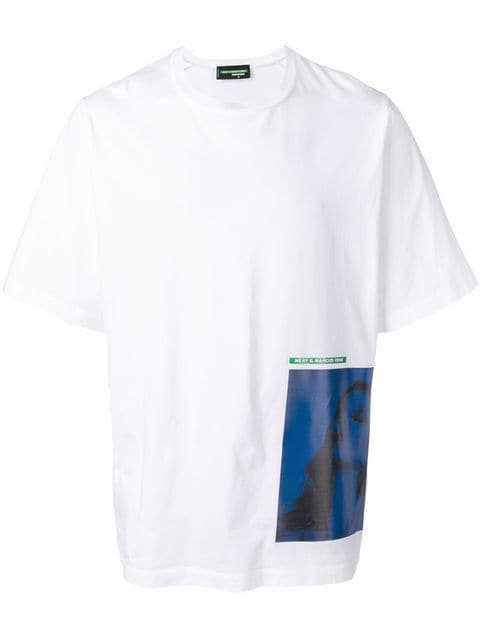 Dsquared2 Printed Patch T-shirt - Farfetch