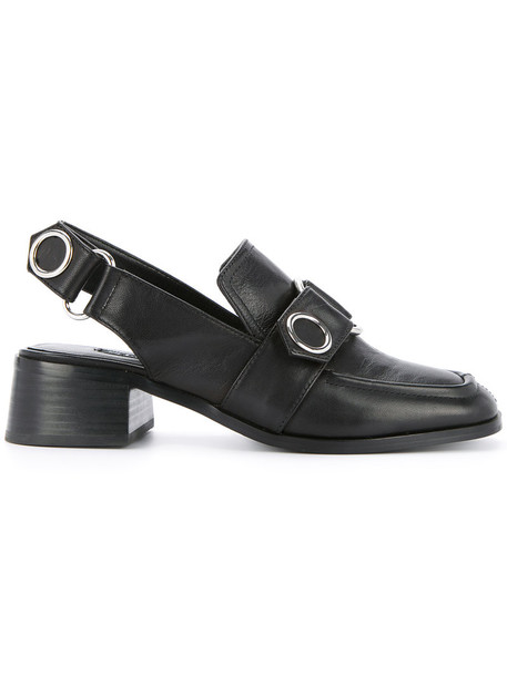 Senso women loafers leather black shoes