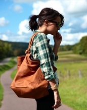 coline,brown bag,bag