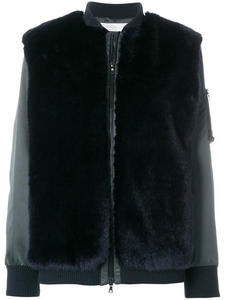 Victoria Victoria Beckham jacket bomber jacket fur faux fur women black