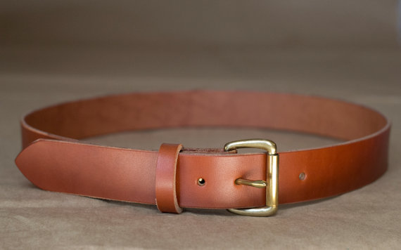 Chestnut English Bridle Leather Belt 1.5 by Harfang on Etsy