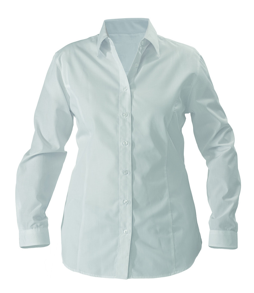 Bisley womens poplin long sleeve business shirt