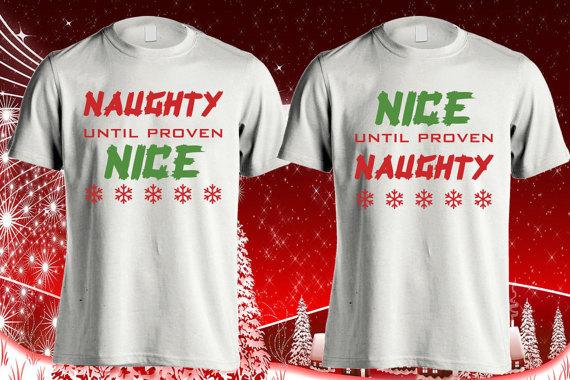Christmas holiday shirt, Naughty nice shirt, Naughty Christmas ...