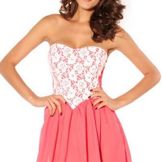 Strapless Crochet Dress