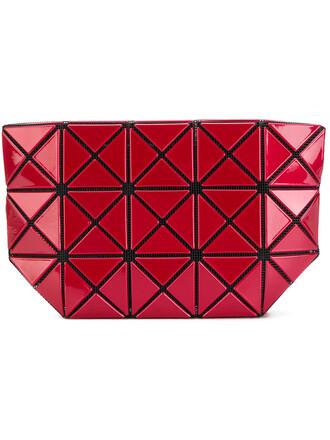 women geometric purse red bag