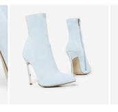 shoes,light blue bootie
