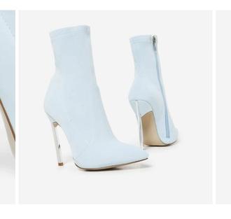 shoes light blue bootie