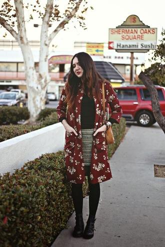 color me nana coat skirt shoes bag jewels