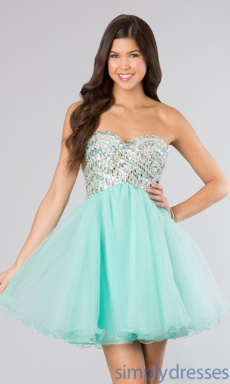dress short sequined prom dress studs beaded formal mint sweet style stylish any colour #dress #openback #pretty #formal