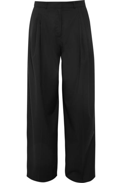 J.W.Anderson|Wool-gabardine wide-leg pants|NET-A-PORTER.COM