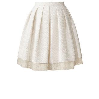 skirt textured flower jacquard pleated skirt