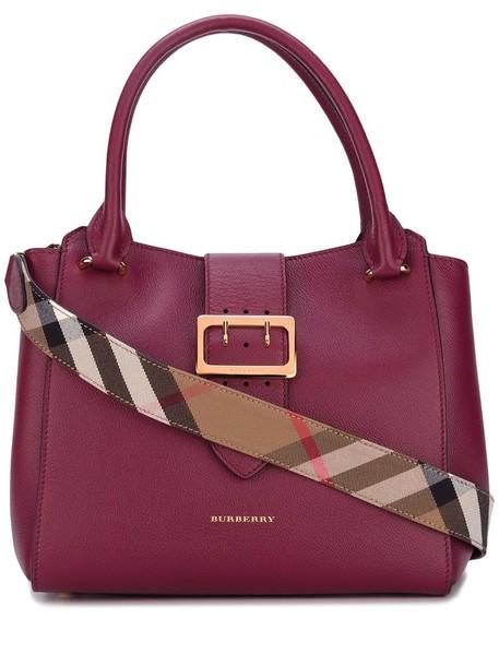 Burberry women leather cotton purple pink bag