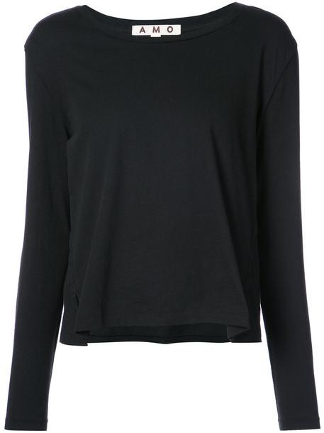 t-shirt shirt t-shirt women cotton black top