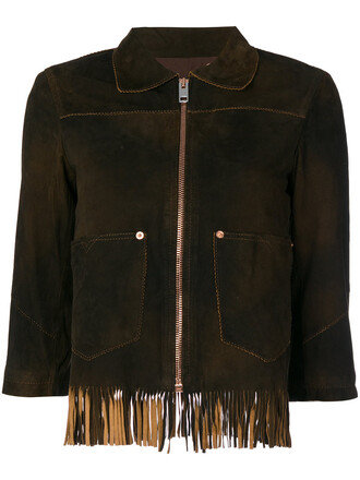 jacket women cotton brown