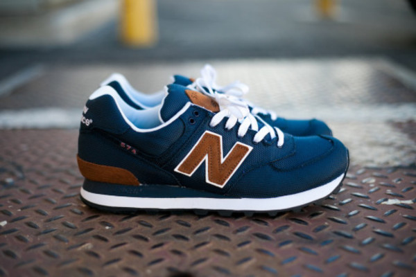shoes new balance sneakers fashion clothes blue leather