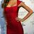 Cap Sleeve Bandage Dress Red