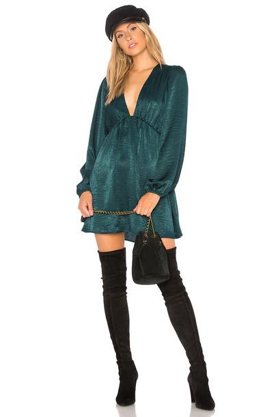 Show me your mumu dress mini dress mini green