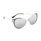 Versace greca strass mirrored sunglasses - transparent grey/silver