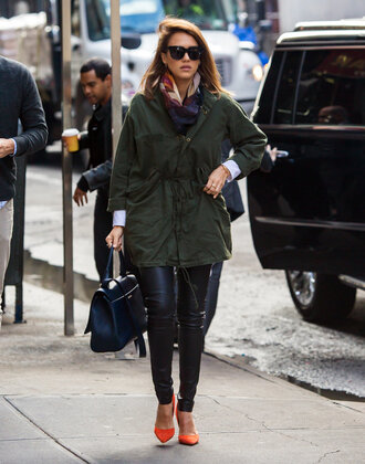 jacket pants pumps jessica alba fall outfits shoes