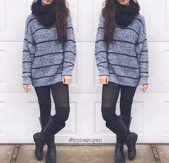 scarf shoes socks sweater