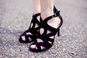 shoes,sandals,black shoes,strappy sandals,classy,high heels,clubwear,summer outfits,my silk fairytale