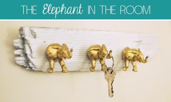 Creative soul spectrum: diy elephant key hooks