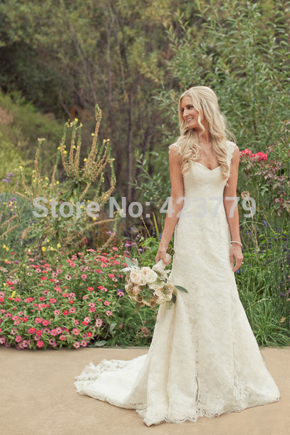 Aliexpress.com : Buy Vintage Wedding Dress 2014 Sleeveless Trumpet V neck Button Zipper Back Long Lace vestidos de novia from Reliable wedding silk suppliers on 27 Dress