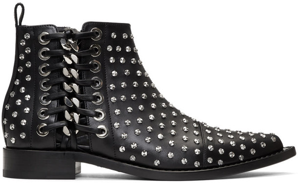 Alexander Mcqueen studded black shoes