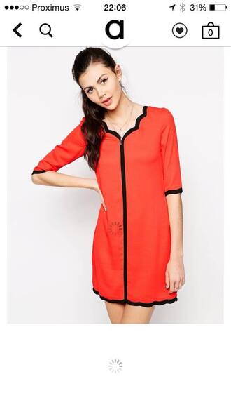 dress red dress ted baker