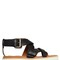 20mm crisscross leather sandals
