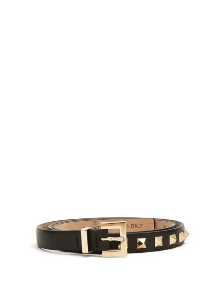Valentino belt leather black