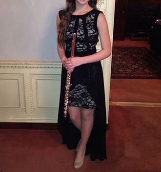 dress black dress beautiful dresses lace dress high low dress