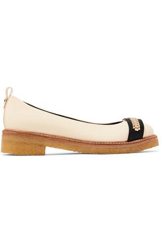 ballet embellished flats ballet flats leather shoes