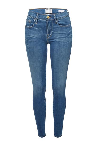 Frame Denim Le Skinny de Jeanne Skinny Jeans  in blue