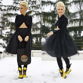 tulle skirt black skirt