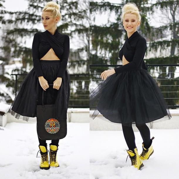 tulle skirt black skirt skirt
