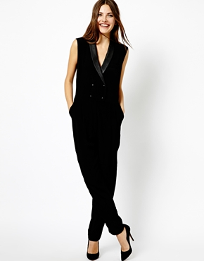 Mango | Mango Tailored Tux Jumpsuit at ASOS