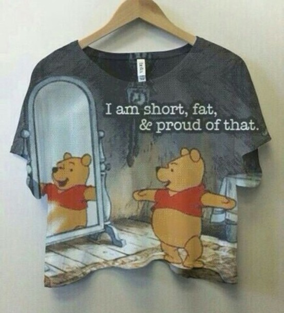t-shirt nallepuh nalle puh shirt top winnie the pooh crop tops