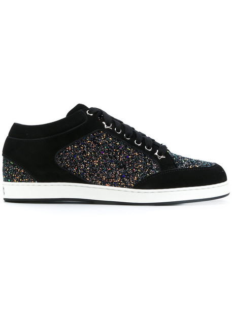 Jimmy Choo glitter women miami sneakers leather black shoes