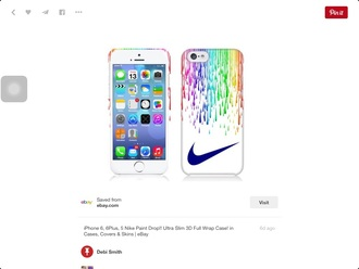 phone cover iphone cover nike rainbow