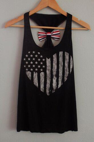 shirt clothes america love heart black t-shirt