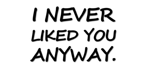 I Never Liked You Anyway T Shirt | Cheap Funny T Shirts ~  Pop Culture T Shirts ~ Baby Onesies ~ Xray Skeleton Baby Tops ~ Funny Maternity Tops