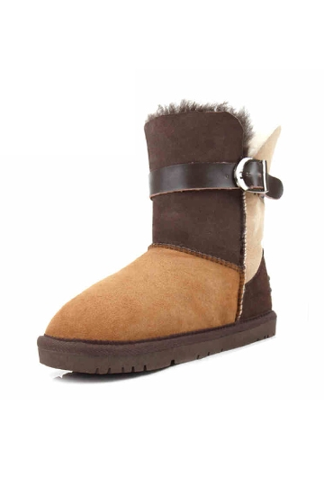 Ethnic Style Snow Boots with Buckle [FABI1496]- US$135.99 - PersunMall.com