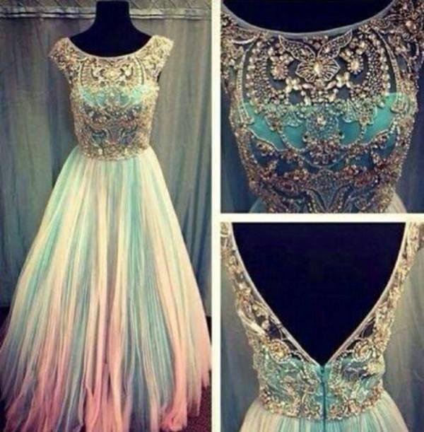 dress evening dress prom lace blue cute prom dress