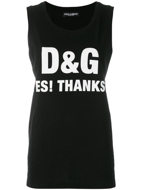 Dolce & Gabbana tank top top women cotton print black