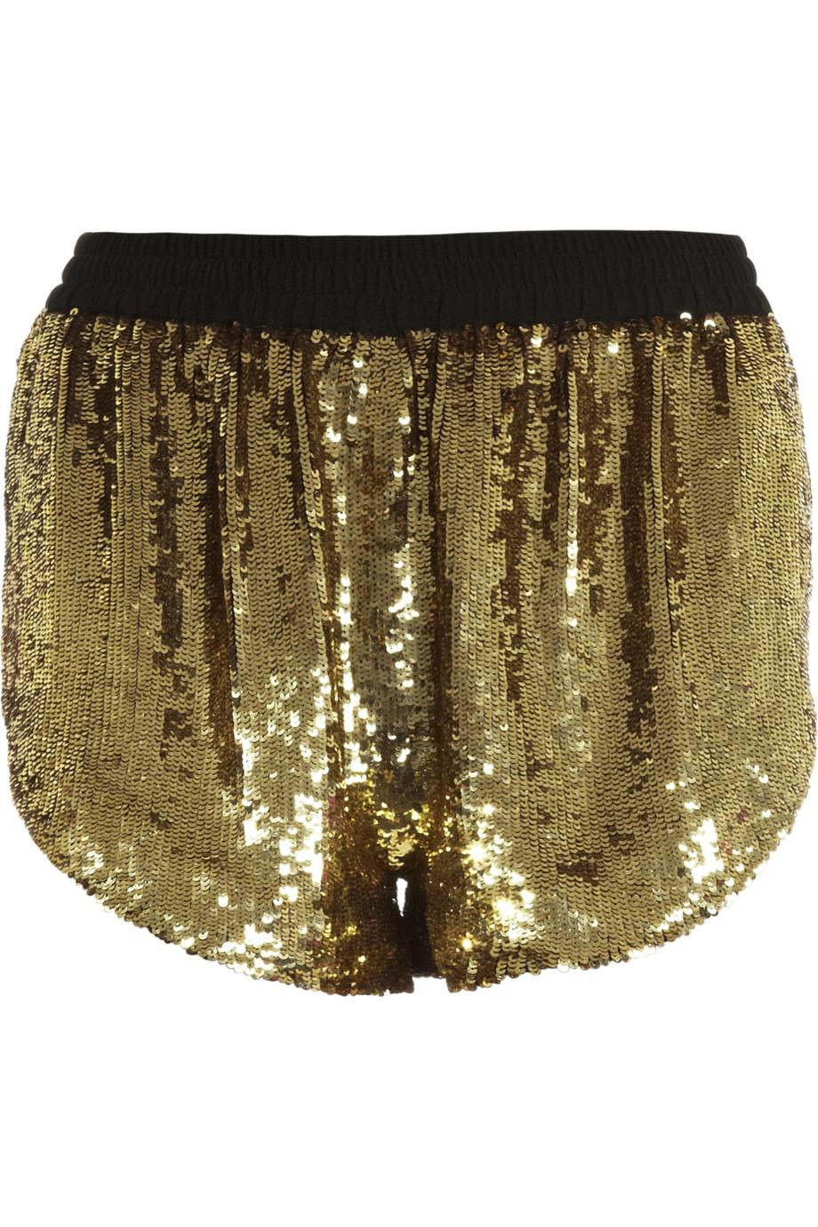 Discount ashish sequin disco shorts