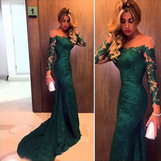 dress prom prom dress emerald green green lace lace dress off the shoulder tulle dress mermaid prom dress bridesmaid mermaid dresses fashion style wow cute cute dress special occasion dress maxi maxi dress long long dress green dress emerald green dress