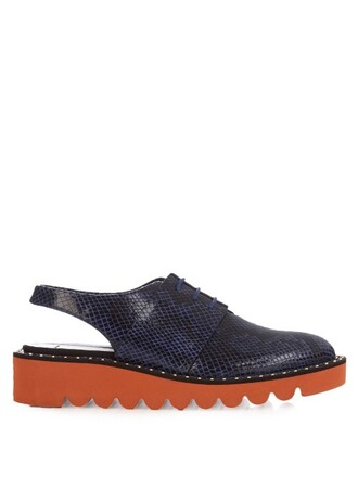 snake shoes lace navy