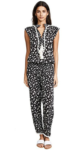 Poupette St Barth jumpsuit long tassel black