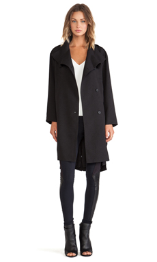 Line & dot baldwin coat in black from revolveclothing.com